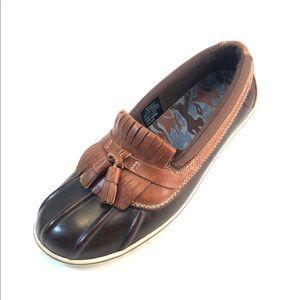 LLBean 290695 Womans Rubber/Leather Tassel Loafers